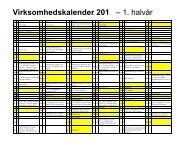 Virksomhedens kalender og frister for 2013 - Skat