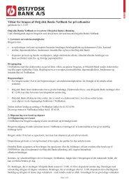 Vilkår for brugen af Østjydsk Banks NetBank for privatkunder