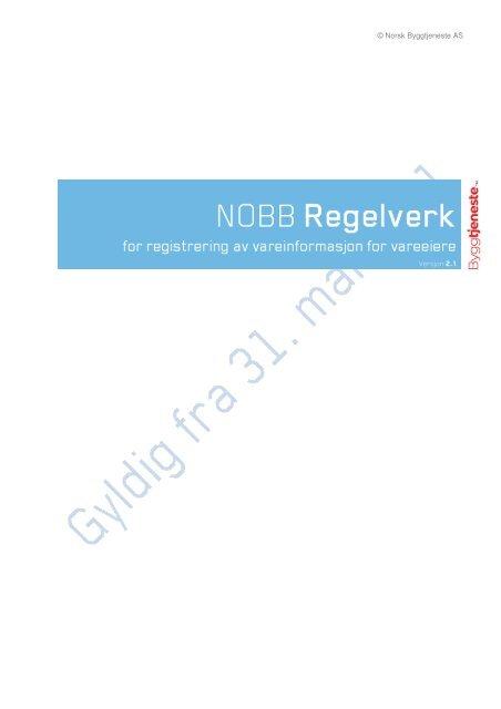 NOBB-regelverk - Virke