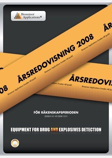 ÅRSREDOVISNING 2008 ÅRSREDOVISNING 200 ... - Biosensor