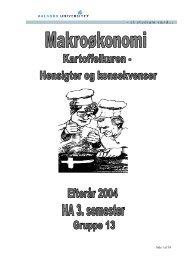 Efterår 2004 HA 3. semester Gruppe 13 - Susanne Lund Axelgaards ...