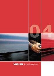 VBG AB Årsredovisning 2004 - vbg group