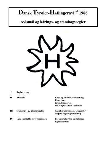 Avlsmål og kårings- og stambogsregler - Dansk Tyroler Haflingeravl ...