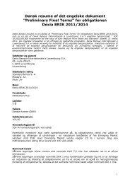 Dansk resume - BIL Bank Danmark