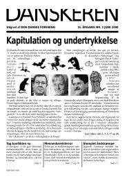 Kapitulation og undertrykkelse - Den Danske Forening