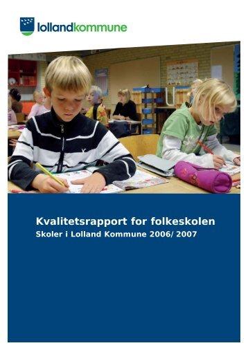Kvalitetsrapport - Folkeskoler - 2007/2008 - Lolland ... - Lolland skoler