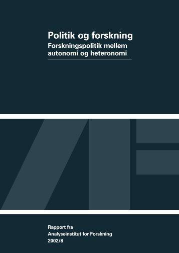 Politik og forskning - analyseinstitut for forskning