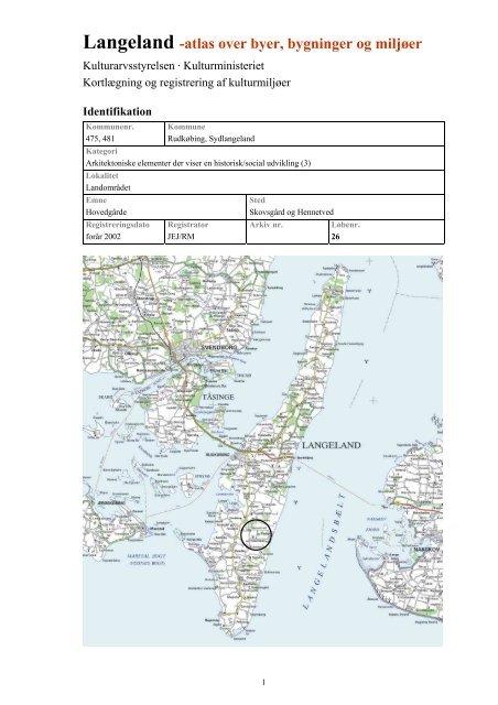 Langeland Atlas Over Byer Bygninger Og Miljoer Test Flere Kort
