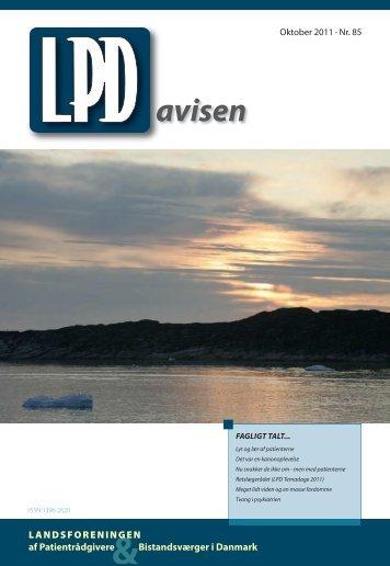 Nummer 85 (oktober 2011) - Landsforeningen af Patientrådgivere ...