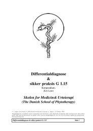 Differentialdiagnose & sikker praksis G 1.15 - Asclepius.dk
