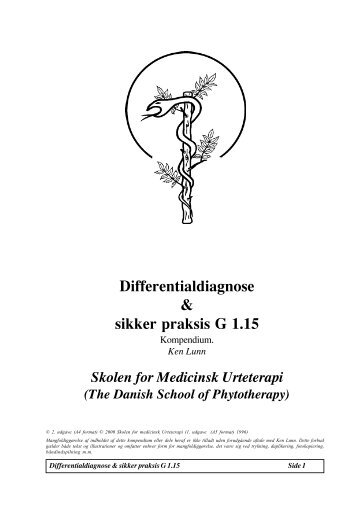 Differentialdiagnose & sikker praksis G 1.15 - Asclepius.dk
