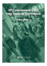 SFU's landsmøde 2012 Høje Taastrup Gymnasium - SFUnet