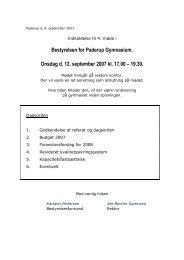 Bestyrelsen for Paderup Gymnasium. Onsdag d. 12. september ...