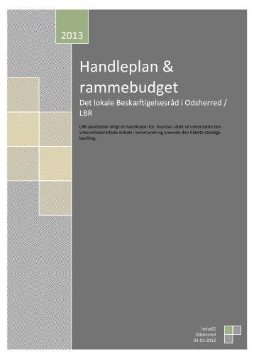 LBR-handleplan 2013 - Odsherred Kommune