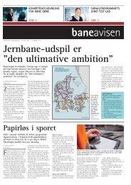 """Jernbane-udspil er """"den ultimative ambition"""" - Banedanmark"""