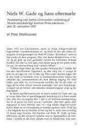 Niels W. Gade og hans eftermæle - dansk musikforskning online