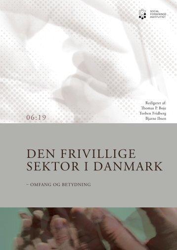 Den frivillige sektor i Danmark, Omfang og betydning - SFI