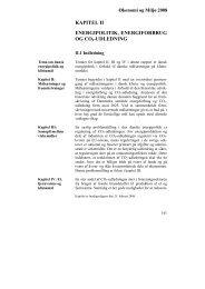 Kapitel II: Energipolitik, Energiforbrug og CO 2 - De Økonomiske Råd