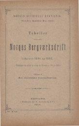 Tabeller vedkommende Norges Bergværksdrift i Aarene 1894 og 1895
