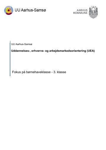 Fokus på 0. til 3. klasse - UU Aarhus-Samsø