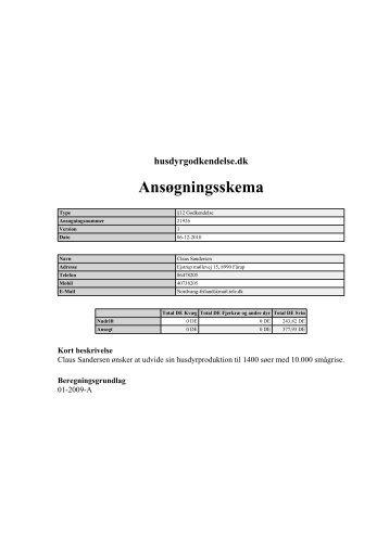 husdyrgodkendelse.dk Ansøgningsskema