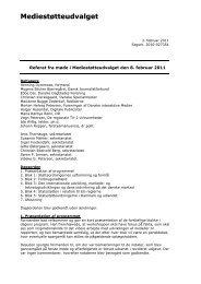 Referat fra møde 8. februar 2011 - Kulturstyrelsen