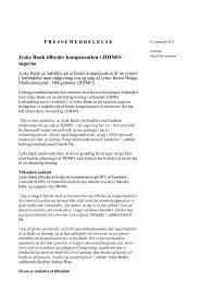 pressemeddelelse - Foreningen af Investorer i Jyske Invest Hedge ...
