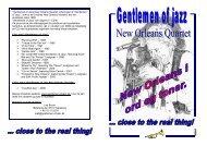 """""""Gentlemen of Jazz New Orleans Quartet"""" udspringer af """"Gentlemen ..."""