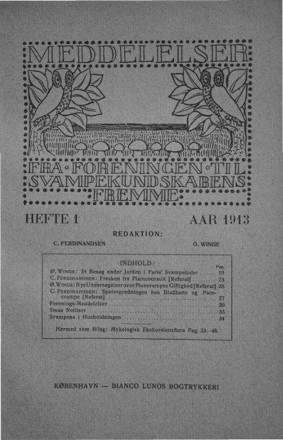Forenings-Meddelelser.