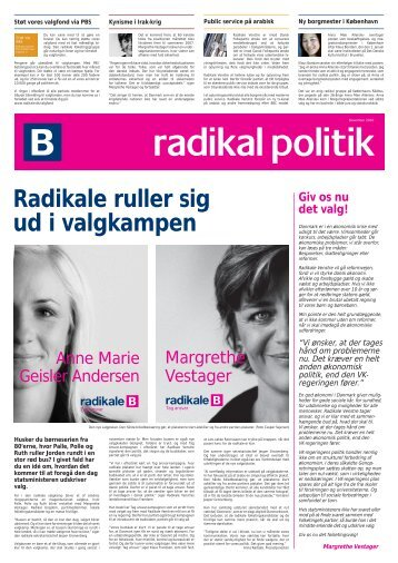 Margrethe Vestager - Radikale Venstre