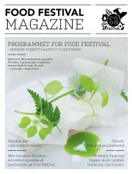 PROGRAMMET FOR FOOD FESTIVAL