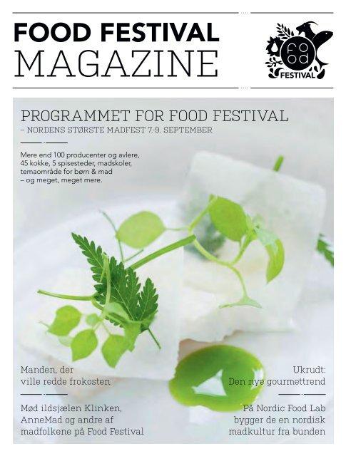 PROGRAMMET FOR FOOD FESTIVAL