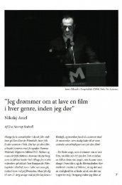 """Jeg drømmer om at lave en film i hver genre, inden jeg dør"""""""