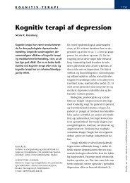 Kognitiv terapi af depression - Sundhed.dk