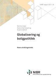 Globalisering og boligpolitikk - Norsk institutt for by- og regionforskning