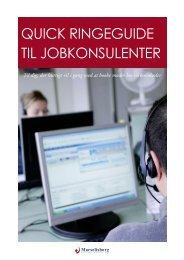 Quick ringeguide til jobkonsulenter