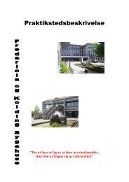 Praktikstedsbeskrivelse - University College Lillebælt