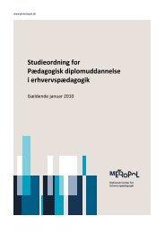 PD studieordning 2010 - Velkommen til Nationalt Center for ...