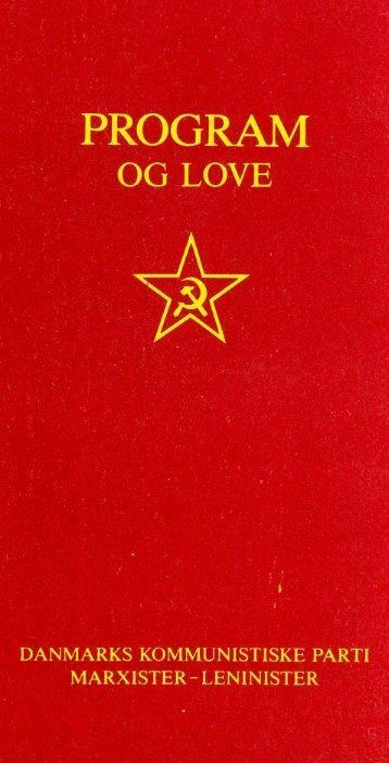 PROGRAM oG LOVE - Arbejderpartiet Kommunisterne