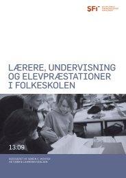 Lærere, undervisning og elevpræstationer i folkeskolen - SFI