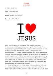 Pinsedag 12. juni 2011 1 Kl. 10.00 Burkal Kirke Tema: Kærlighed til ...