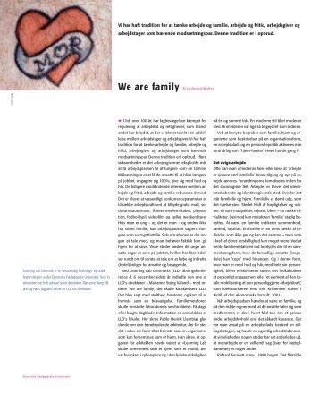 Vi har haft tradition for at tænke arbejde og familie, arbejde og ... - DPU