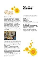 Forår 2012 - Dansk Sklerodermi & Raynaud Forening