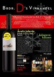 Julegave- kassen Årets julevin - Brdr. D's Vinhandel