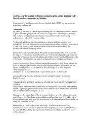 Høringssvar til forslag til Klinisk vejledning for almen praksis vedr ...