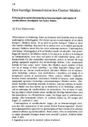 Ewa Dabrowska Den barnlige himmelvision hos Gustav Mahler. Et ...