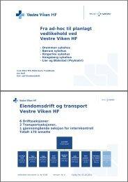 Eiendomsdrift og transport Vestre Viken HF