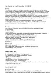 Halvårsplan for musik i skoleåret 2012-2013 - Livets Skole