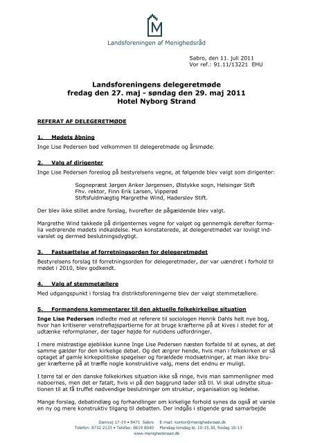 Hent referatet fra årsmøde 2011 her - Landsforeningen af ...