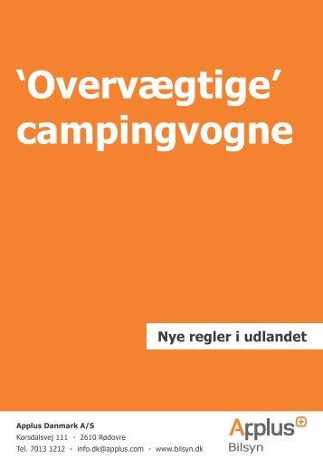 Nye regler i udlandet 'Overvægtige' campingvogne - Applus Bilsyn